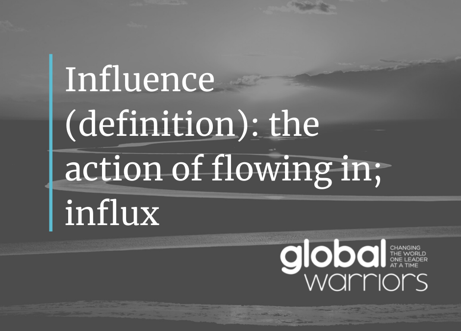 Thought for the week: Redefining influence