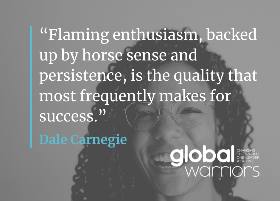 Thought for the week: Flaming enthusiasm